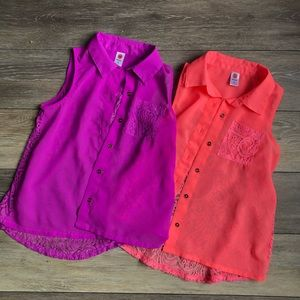 Total Girl | Neon Sleeveless Blouse 2 Pack Bundle